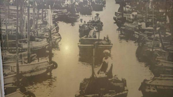 かつて漁師町として栄えた頃の境川の様子